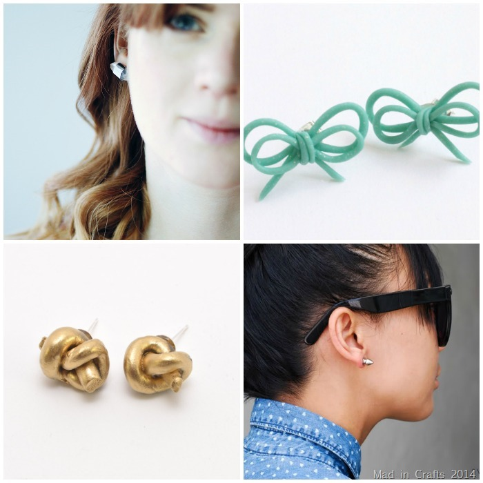 DIY Stud Earrings 5
