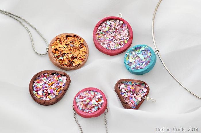 DIY druzy pendants