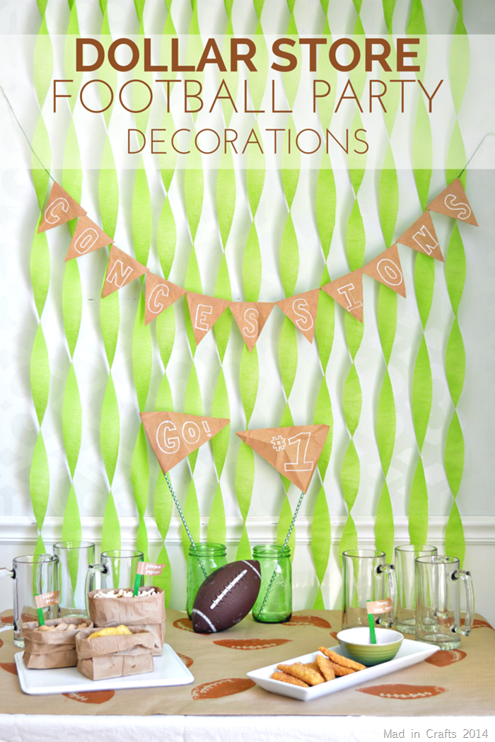 Dollar Store Football Party Decorations Mad In Crafts