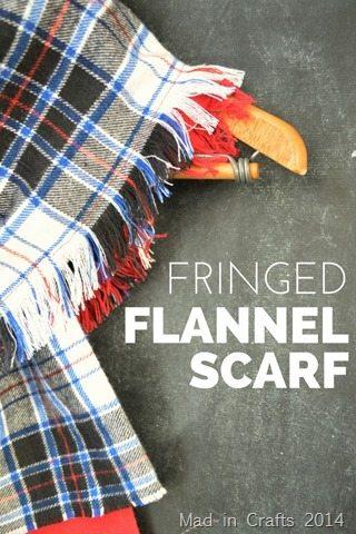 FRINGED PLAID FLANNEL SCARF TUTORIAL