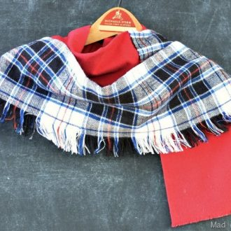 FRINGED PLAID FLANNEL SCARF TUTORIAL