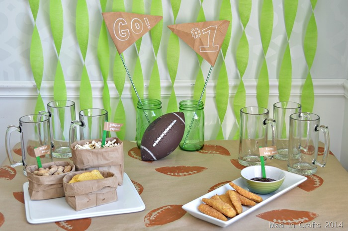 DOLLAR STORE FOOTBALL PARTY DECORATIONS