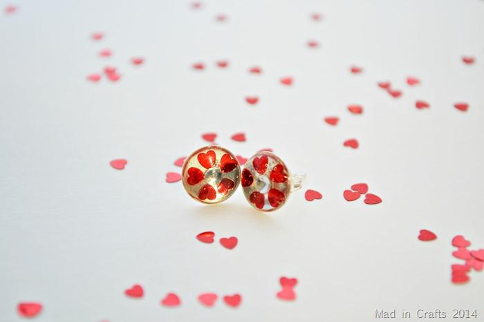 Valentine Earring Closeup
