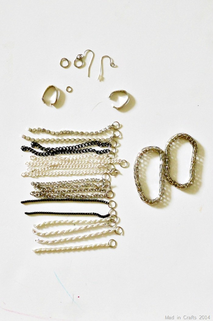 earrings taken apart