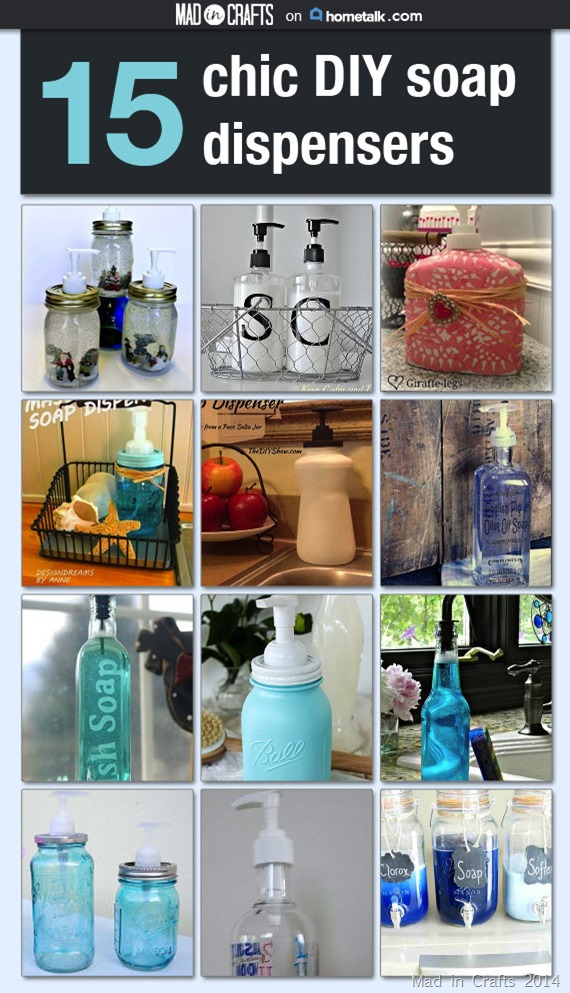 15 Chic DIY Soap Dispenser Projects