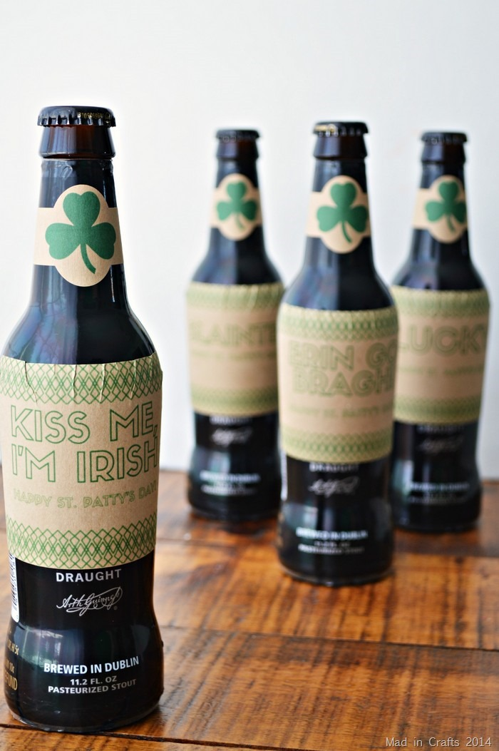 photograph about Printable Beer Labels named PRINTABLE BEER LABELS FOR ST. PATRICKS Working day Outrageous within just Crafts