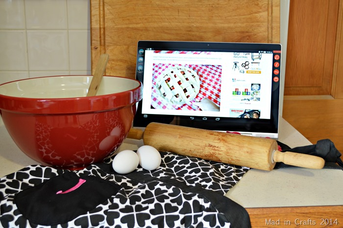 Yoga Tablet in the Kitchen