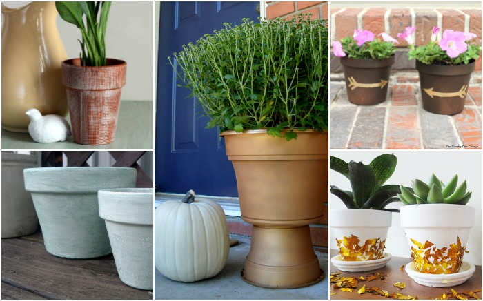 DECORATIVE FLOWER POTS