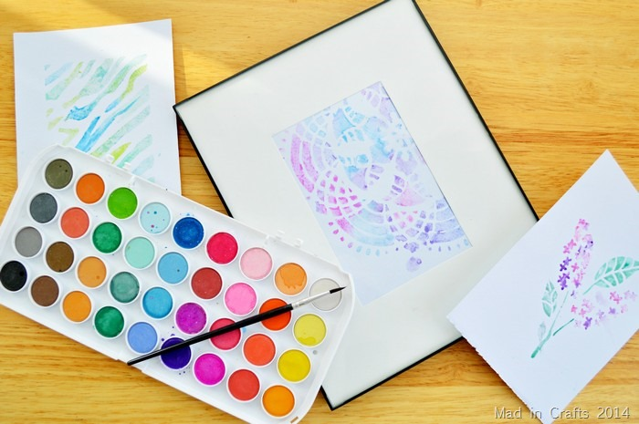 stencil watercolors