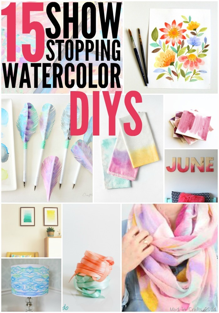 15 Watercolor DIYs - Mad in Crafts
