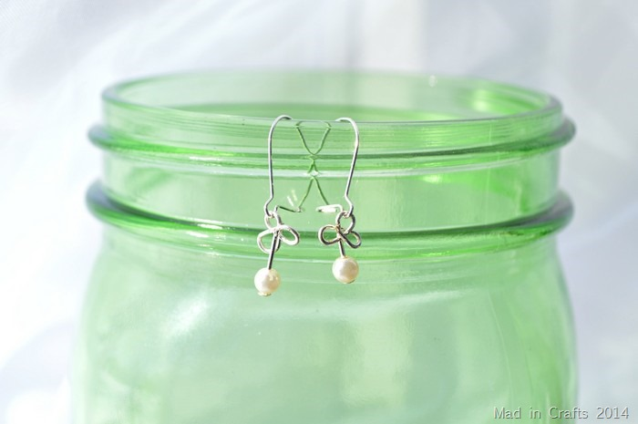 wire shamrock earrings