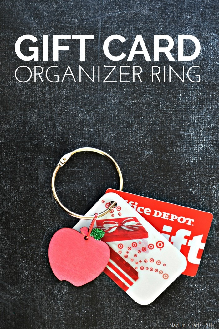 Gifts For Organizers >> Gift Card Organizer Ring Mad In Crafts