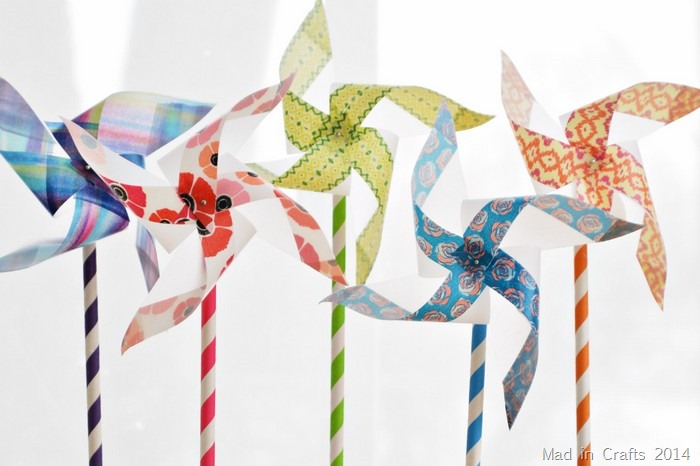 EASY PINWHEEL FLOWERS