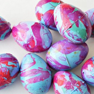 NAIL POLISH MARBLED EASTER EGGS