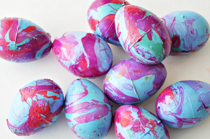 Nail Polish Marbled Easter Eggs Mad In Crafts