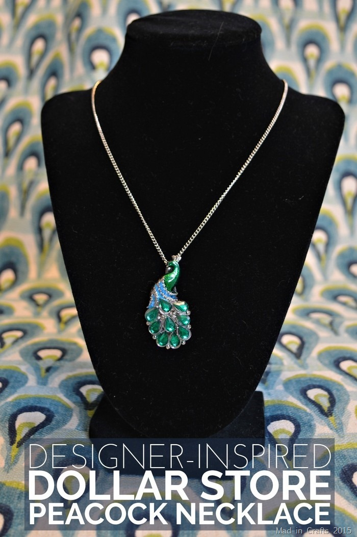 Designer Inspired Dollar Store Peacock Necklace