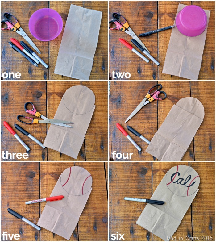 Make a Baseball Snack Bag