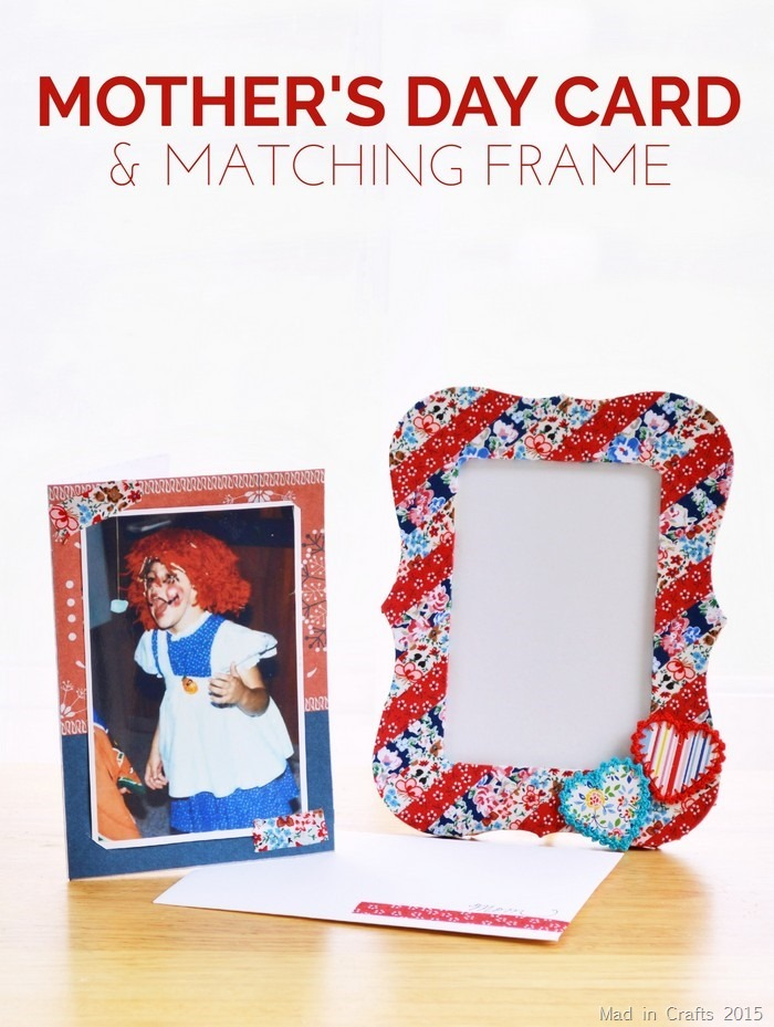 Mother's Day Photo Card with Matching Frame