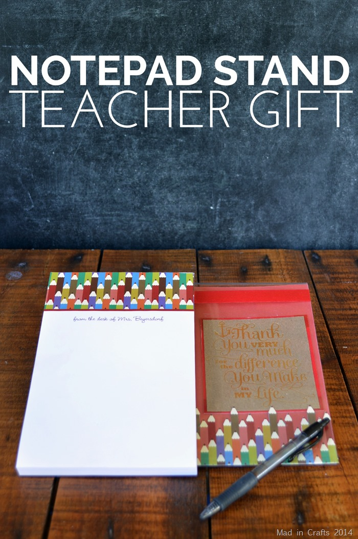 Notepad Stand Teacher Gift