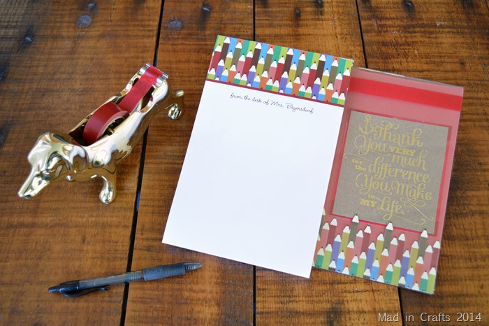 Notepad Teacher Gift