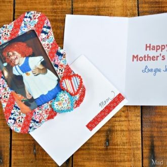 MOTHER'S DAY CARD WITH MATCHING FRAME