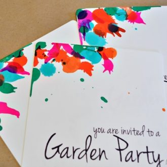 COLOR SPLASH PARTY INVITATIONS FOR MYPRINTLY