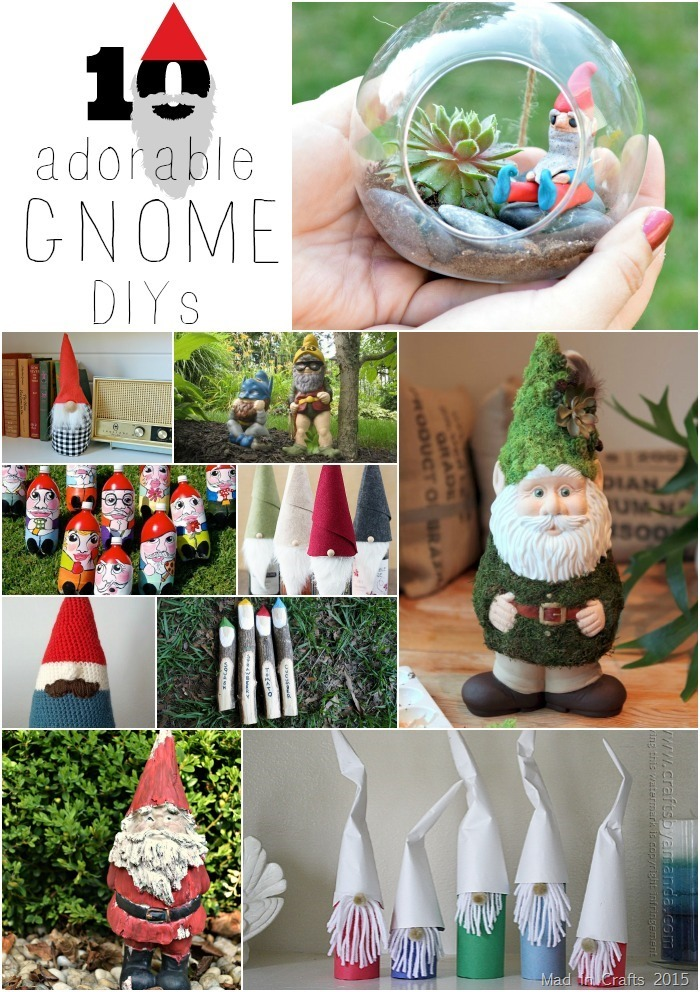 10 Adorable Gnome DIYs - Mad in Crafts
