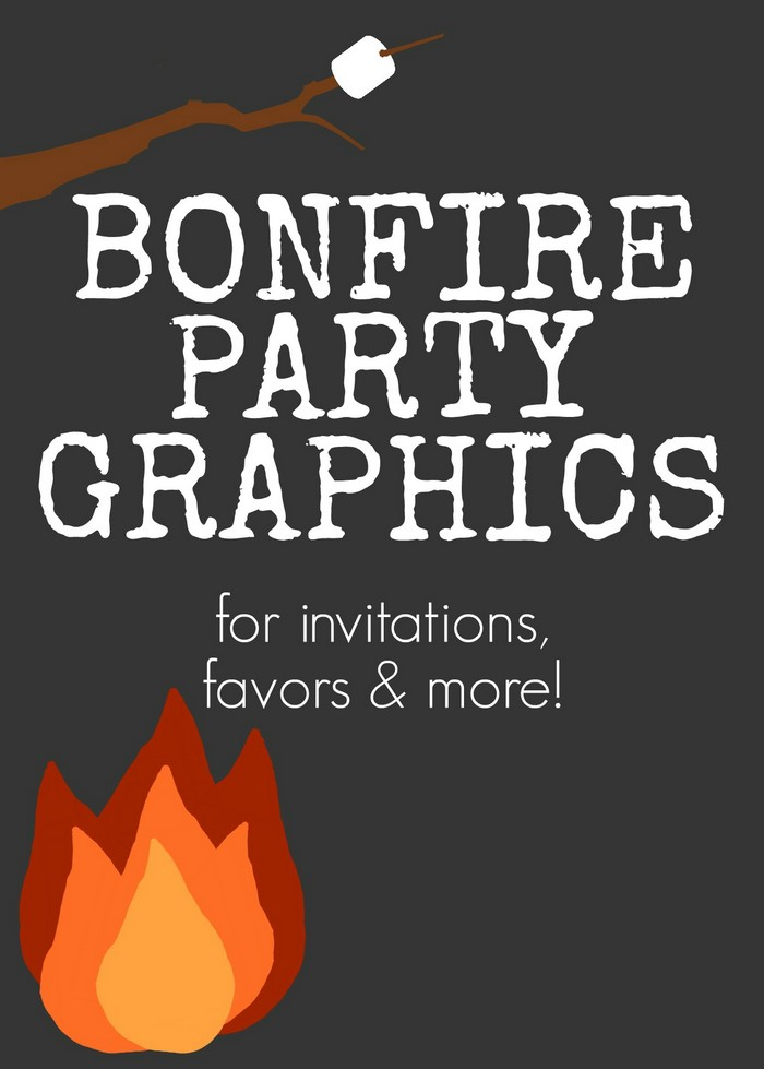 Bonfire Party Graphics For Invitations Favors And More