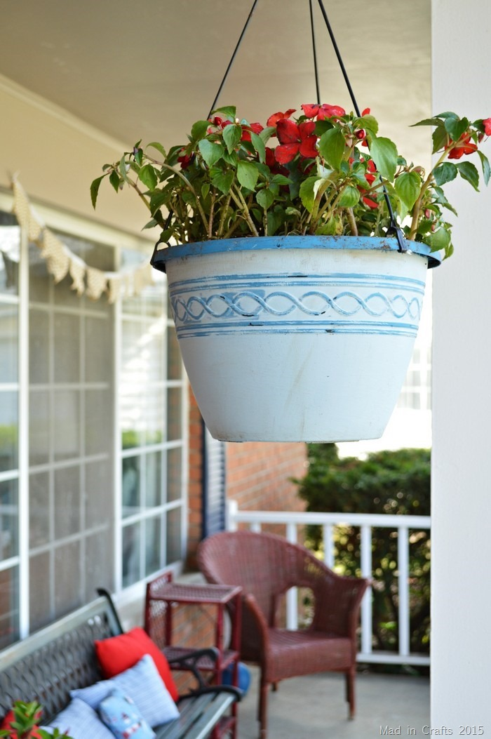 chalky finish hanging planters