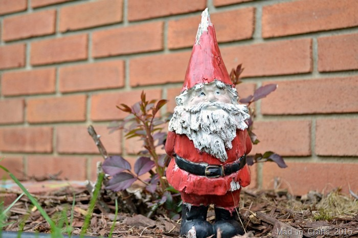 freshly painted gnome