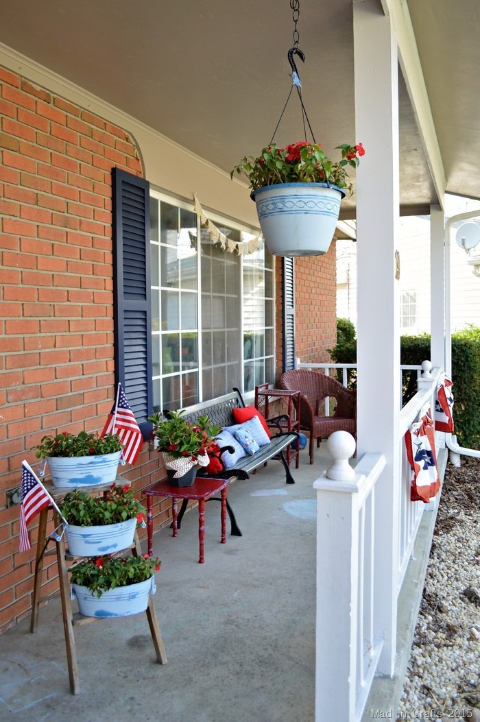 front porch decorations red white blue