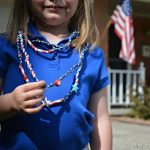 FOURTH OF JULY PAPER STRAW NECKLACES