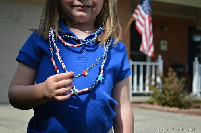Fourth of July Paper Necklaces