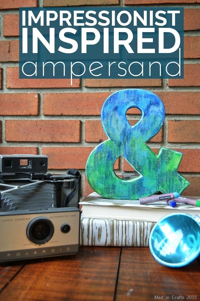 Impressionist Inspired Ampersand