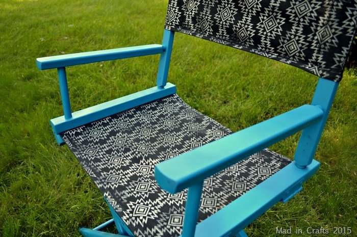 block printed director's chair