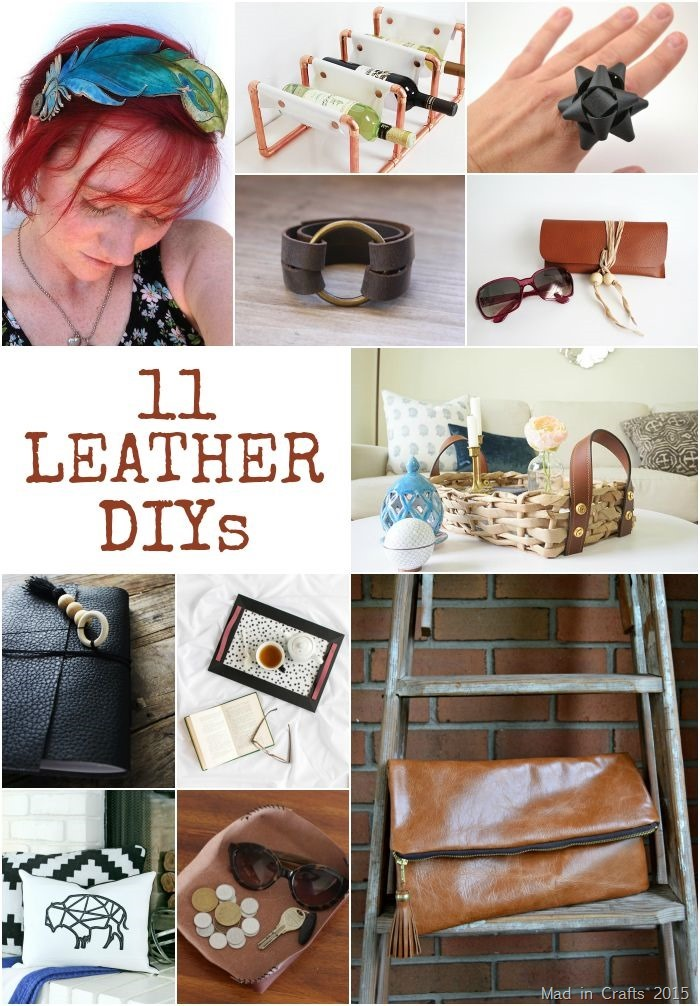 11 Trendy Leather DIYs - Mad in Crafts