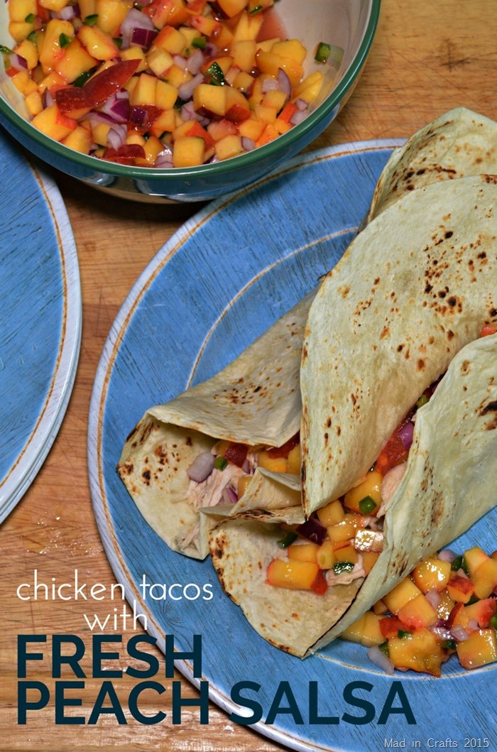 Chicken Tacos with Fresh Peach Salsa