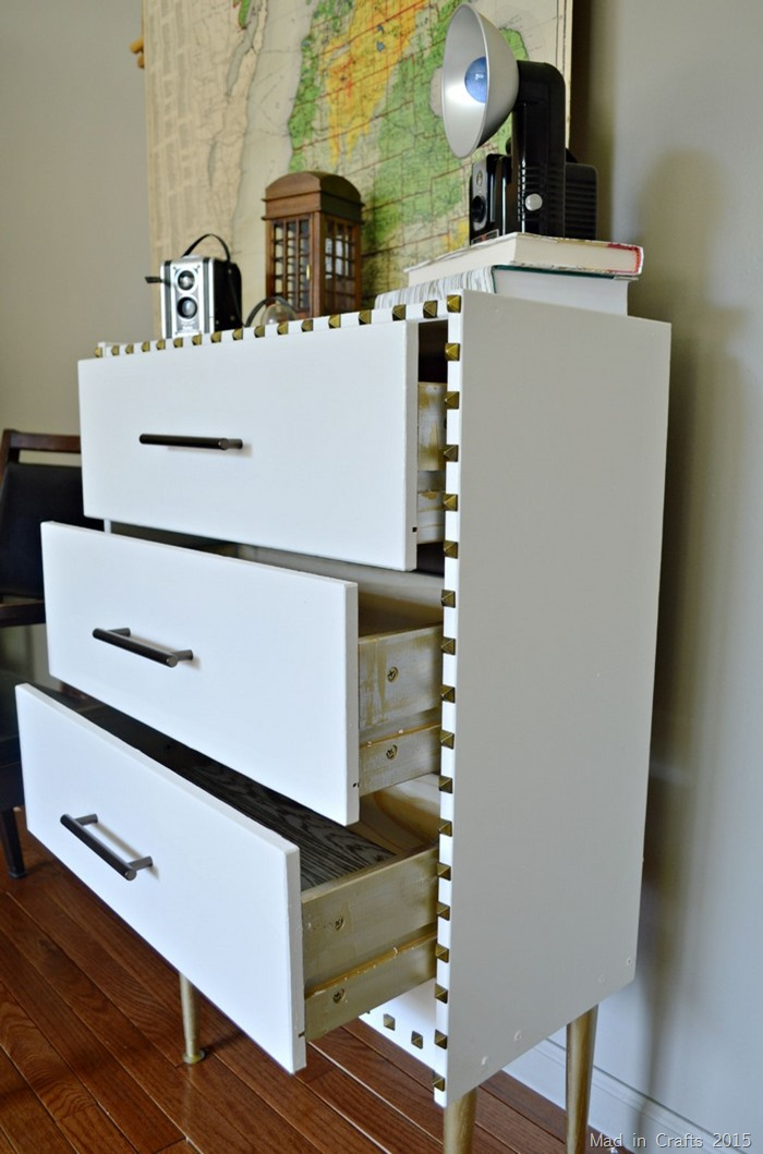 gold drawer sides