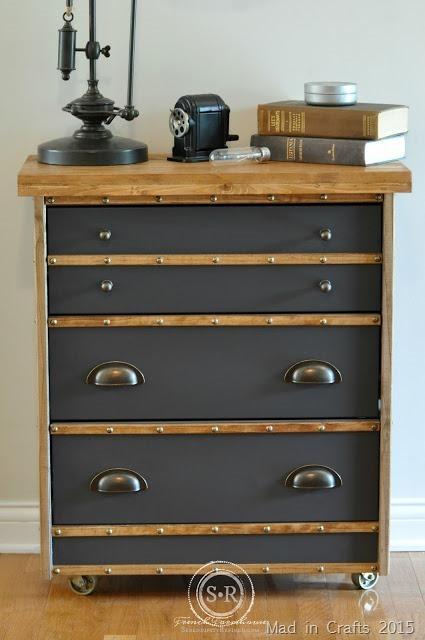 gray and wood restoration hardware inspired nightstand