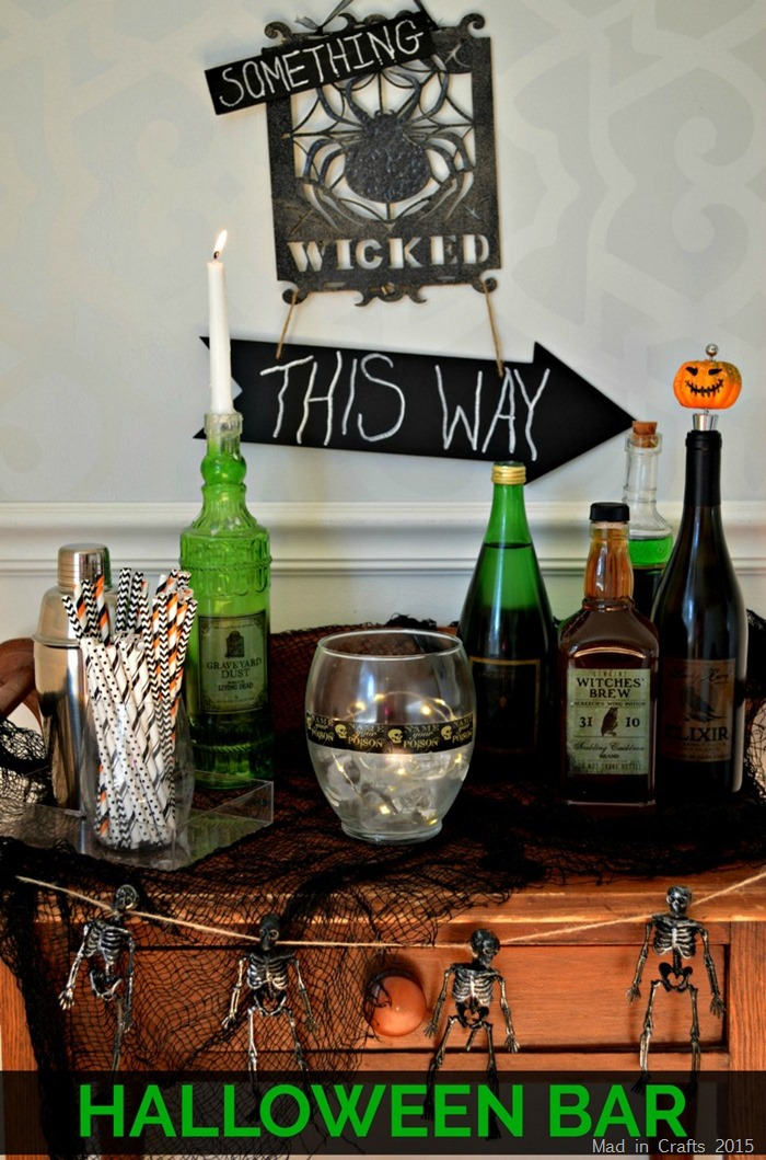 DIY Dollar Store Halloween Bar