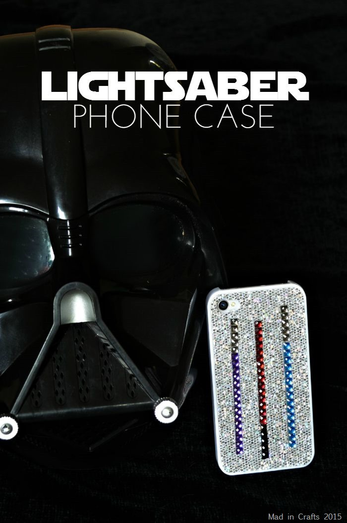 DIY LIGHTSABER PHONE CASE