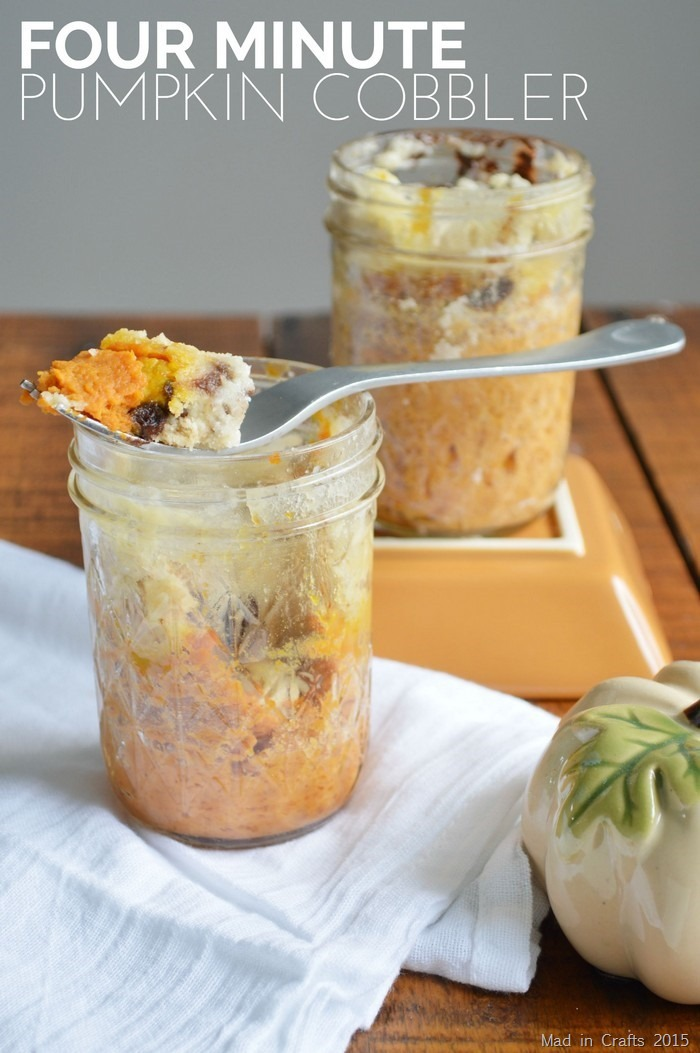 4 MINUTE PUMPKIN COBBLER IN A JAR