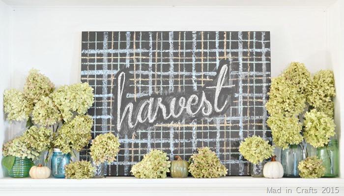 Hydrangea Harvest Mantel