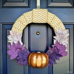PURPLE OMBRE AUTUMN WREATH