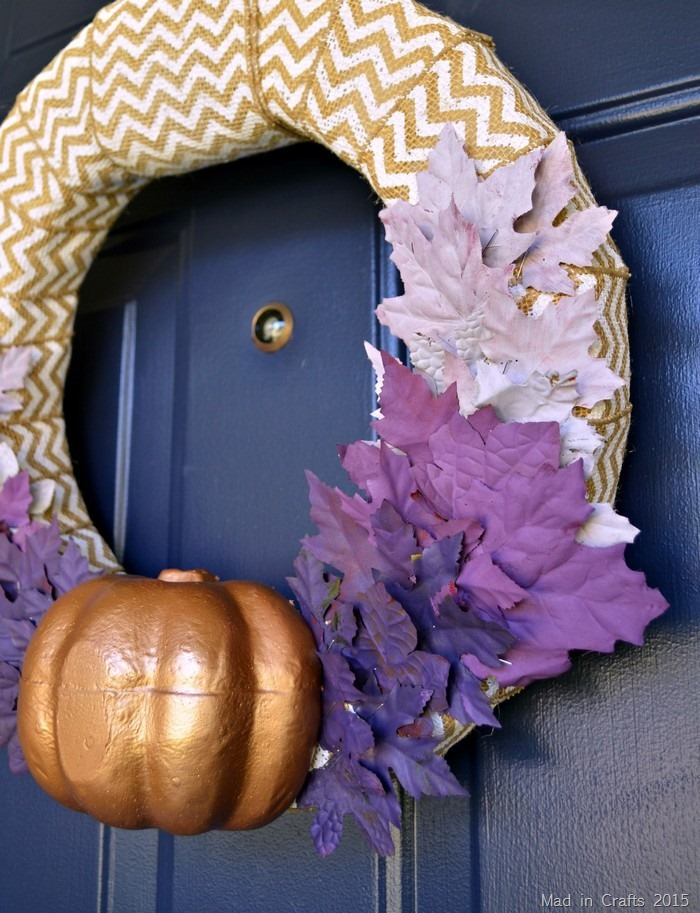 Purple Ombre Fall Leaves