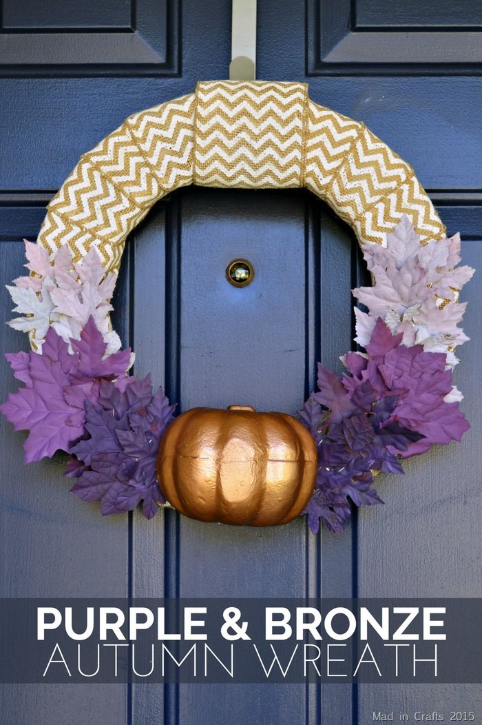 Purple and Bronze Autumn Wreath