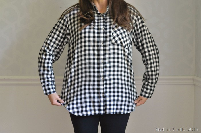 alter a boxy flannel shirt