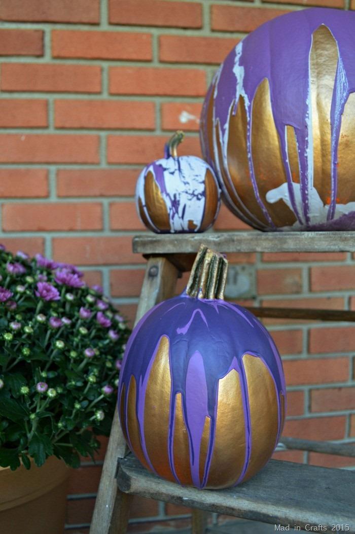 ombre paint pour pumpkins