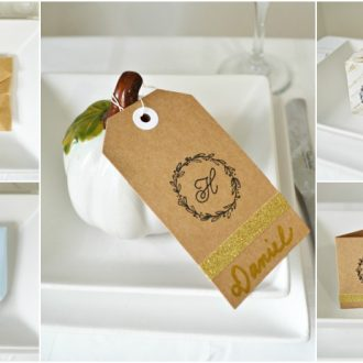 5 STAMPED THANKSGIVING PLACE SETTING DECORATIONS