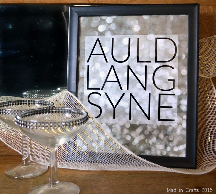 Auld Lang Syne Printable